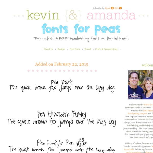 Fonts for Peas — best cute, free handwriting fonts