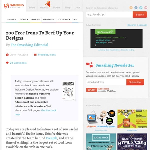 200 Foodie Pack: A Free Set Of Food Icons