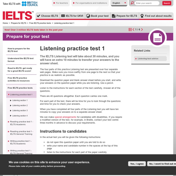 Free IELTS Listening practice test to help pass the exam | Pearltrees