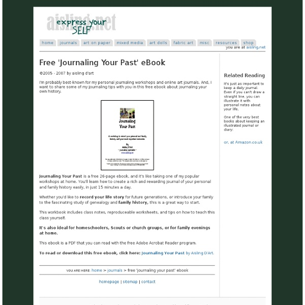 Journaling your Past