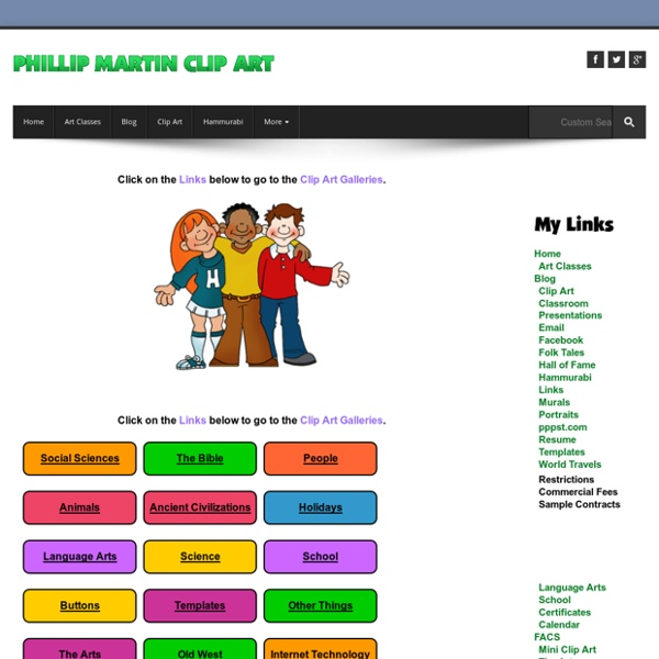 Free Kids Clip Art by Phillip Martin, Free Clip Art for Kids