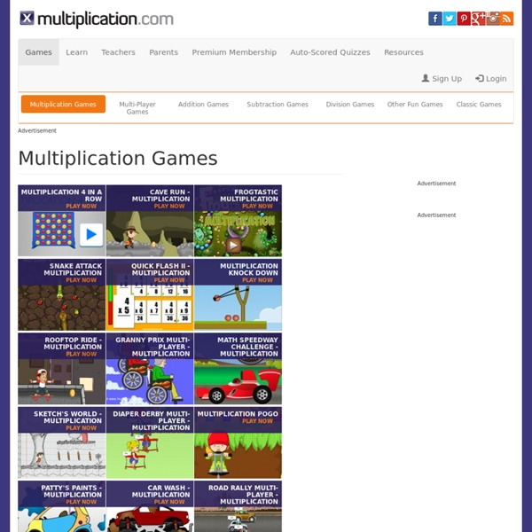 Free Multiplication Math Games