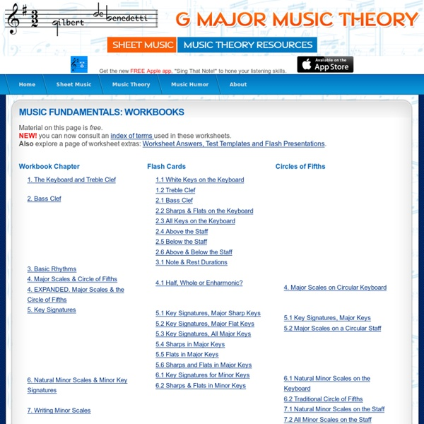 Free Music Theory Worksheets!