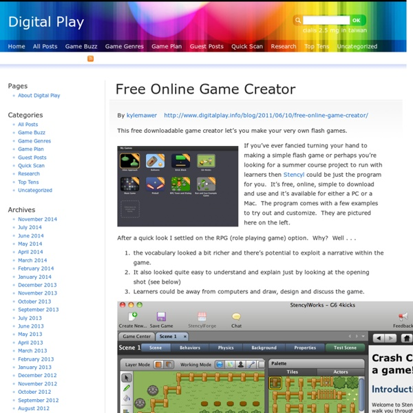 Free Online Game Creator