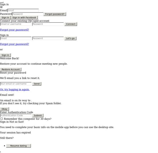 okcupid forgot email