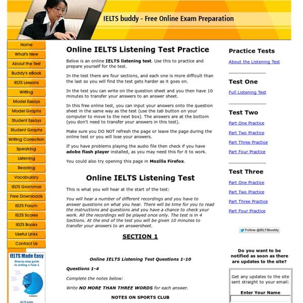 Free Online IELTS Listening Test