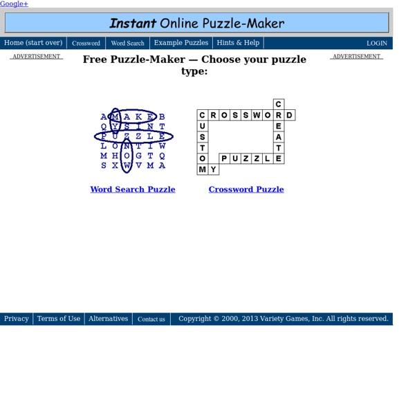 Free Online Puzzle Maker