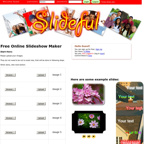 Free Online Slideshow maker