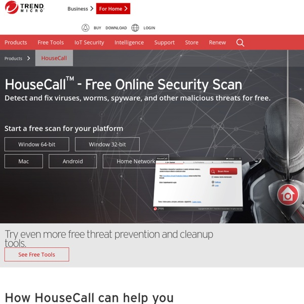 HouseCall - Free Online Virus Scan - Trend Micro USA