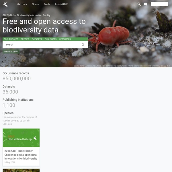 Free and Open Access to Biodiversity Data