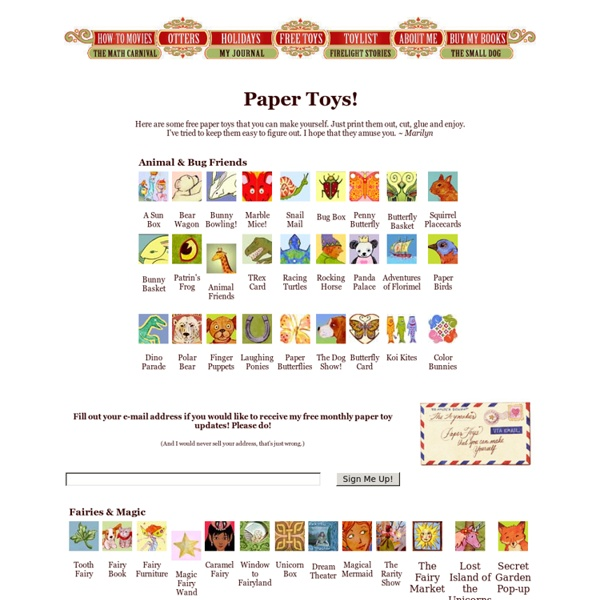 Free Paper Toys From The Toymaker!