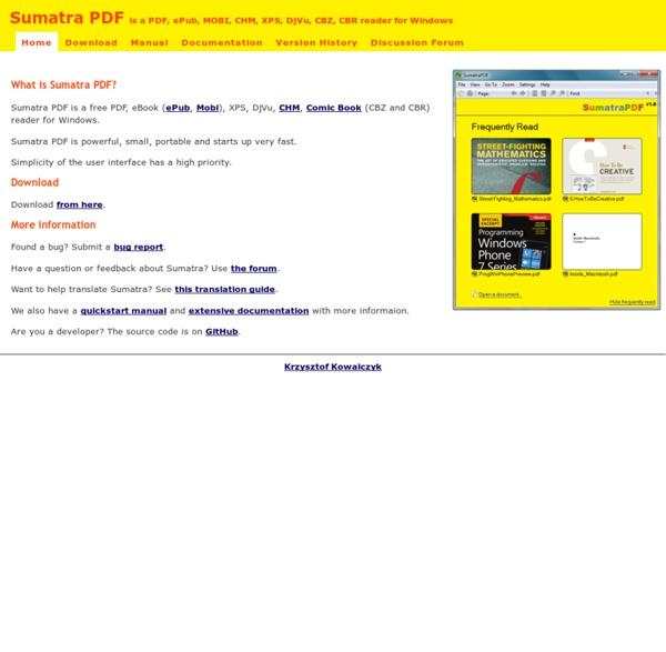 Free PDF Reader - Sumatra PDF