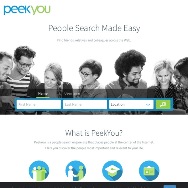 Search For People At PeekYo