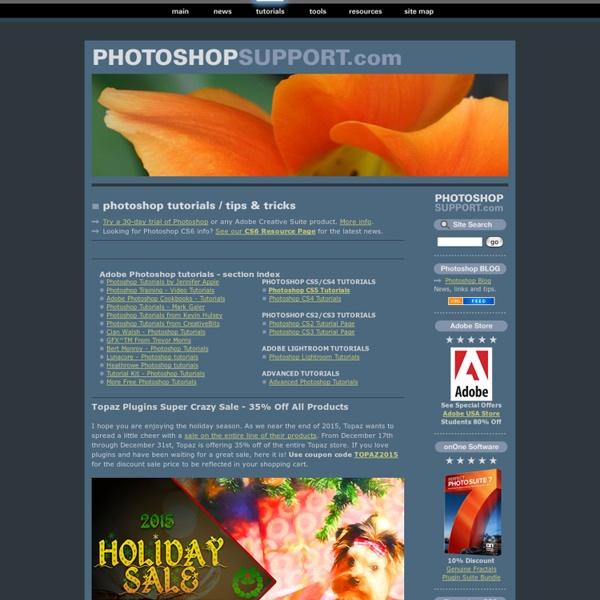 Free Photoshop Tutorials & Adobe Photoshop Tips