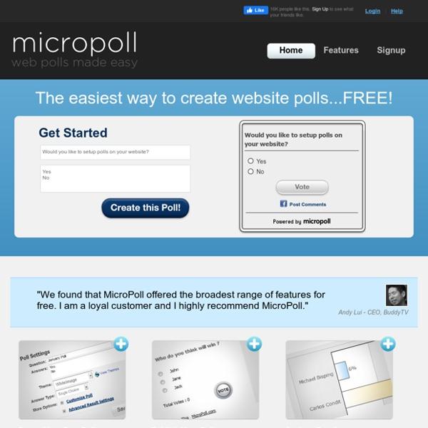 Free Web Polls - Online Polls - Free Online Poll - MicroPoll