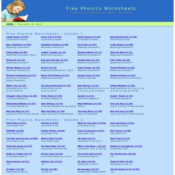 Free Printable Worksheets