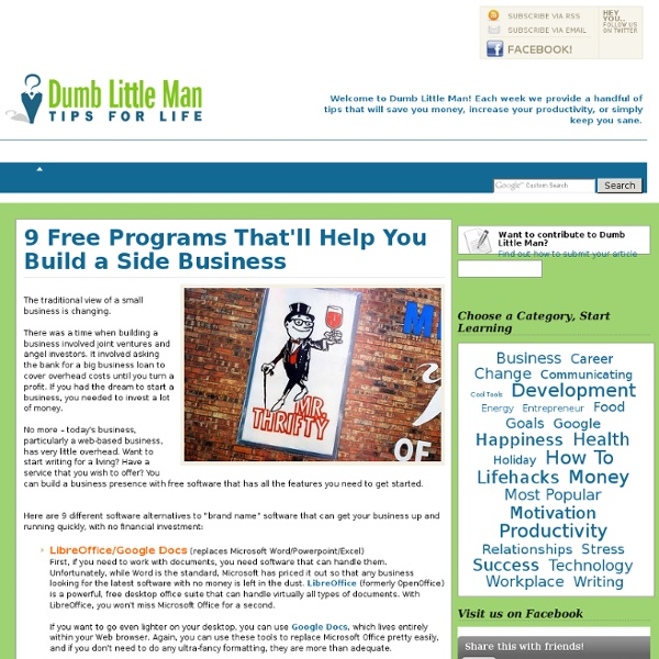 9 Free Programs That'll Help You Build a Side Business