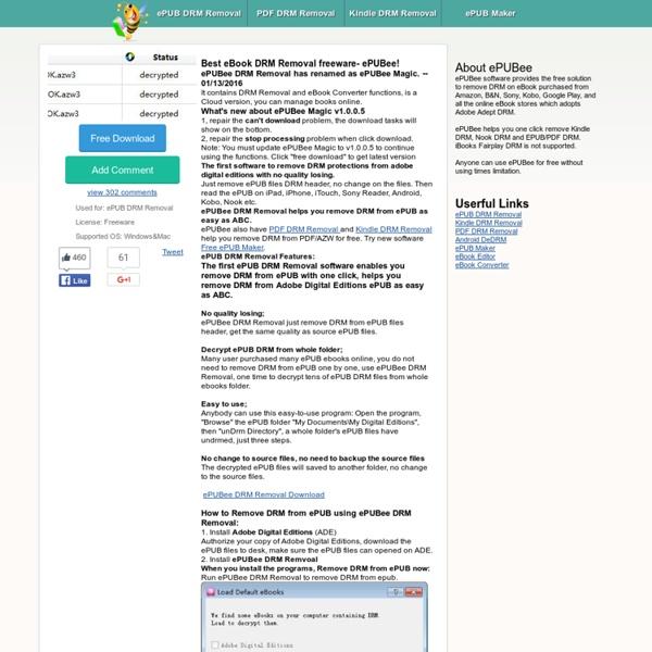 Free ePUB DRM Removal,remove DRM from epub, ePUBee!