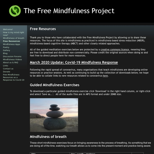 Free Resources - Free Mindfulness