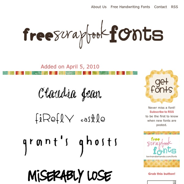 Free Scrapbook Fonts Pearltrees