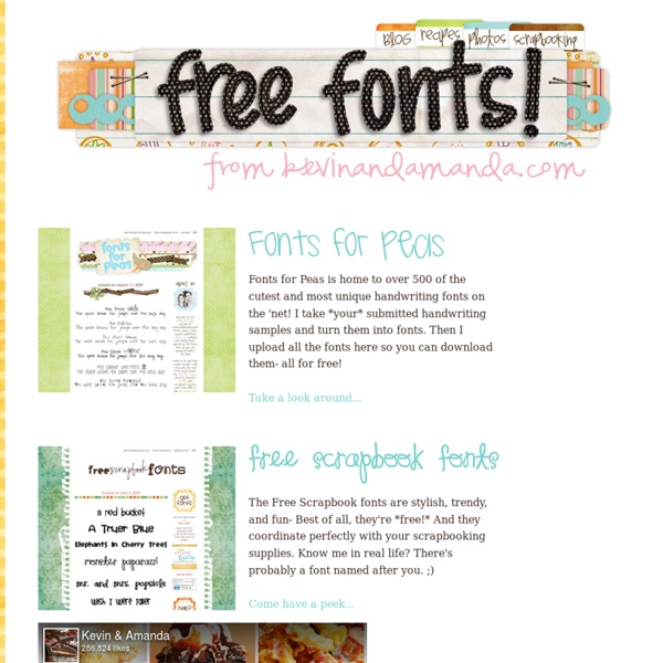 Free Scrapbook Fonts & Fonts for Peas