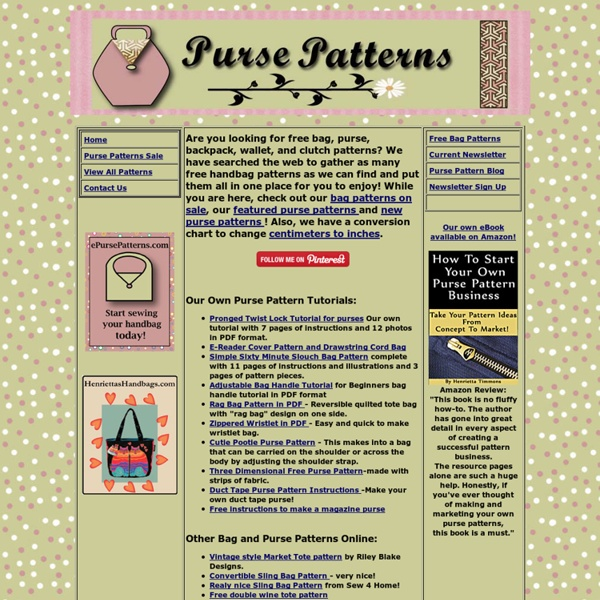 Free Downloadable Bag Patterns Pearltrees
