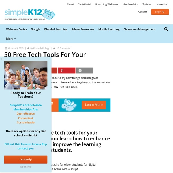 50+ Free Tech Tools For Your Classroom