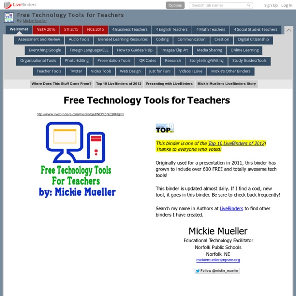 Free Technology Tools for Teachers