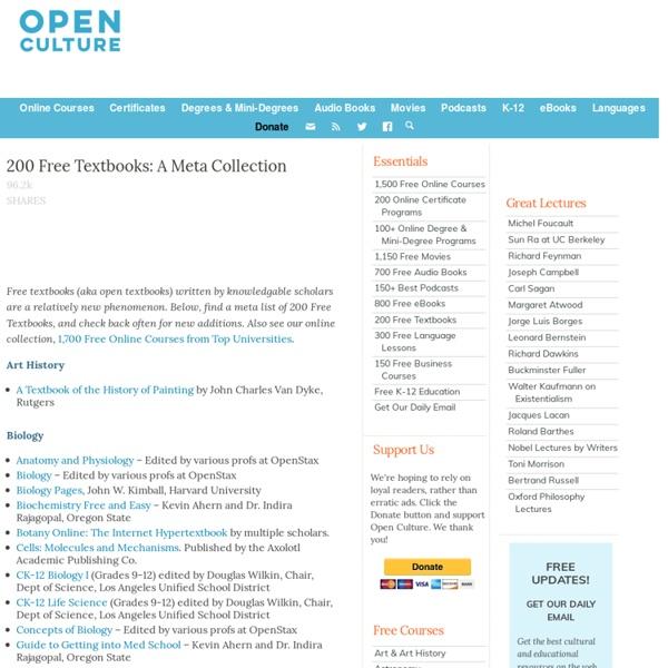160 Free Textbooks: A Meta Collection