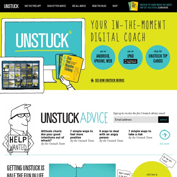Free Unstuck app for iPhone, Android, iPad, and Web