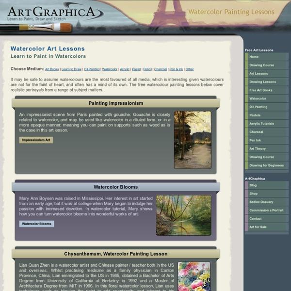 Watercolor art lessons online