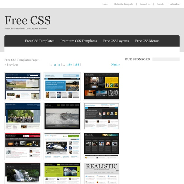 Free CSS Website Templates Page 1 of 156 | Pearltrees