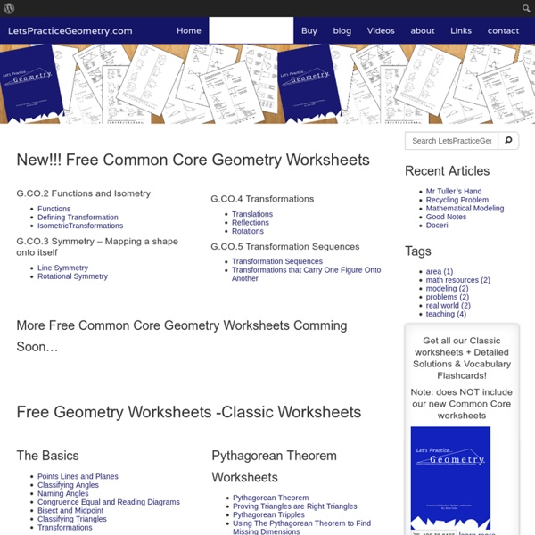 Free Geometry Worksheets for High School | Pearltrees