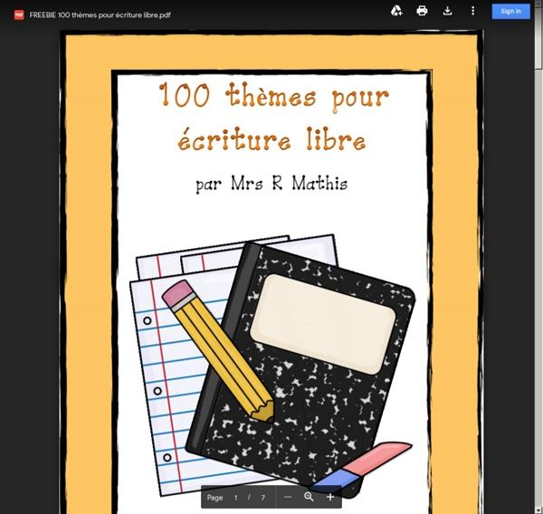 FREEBIE 100 thèmes pour écriture libre.pdf