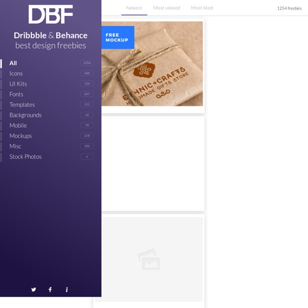 DB Freebies Design Resources from Behance and Dribbble