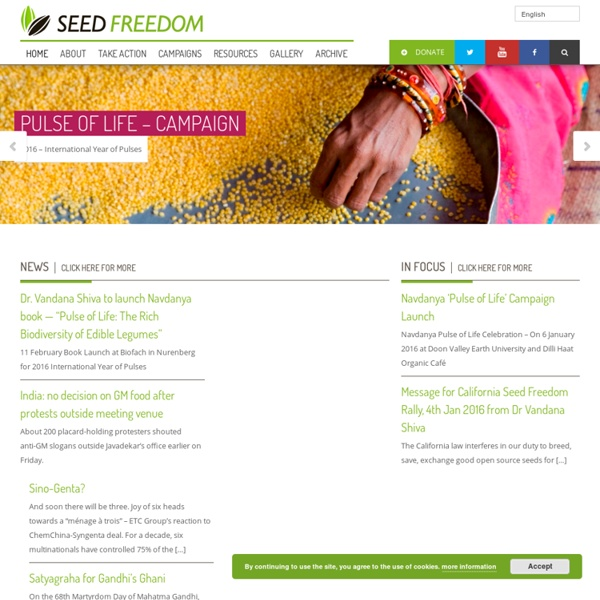 A GLOBAL MOVEMENT TO DEFEND SEED FREEDOM