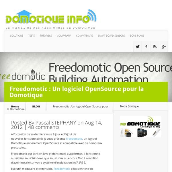 Freedomotic : Un logiciel OpenSource pour la Domotique