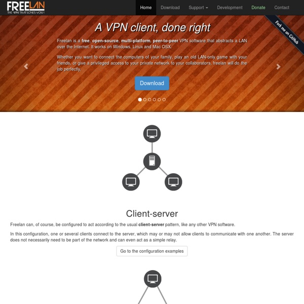 Freelan - an open-source, multi-platform, peer-to-peer VPN software