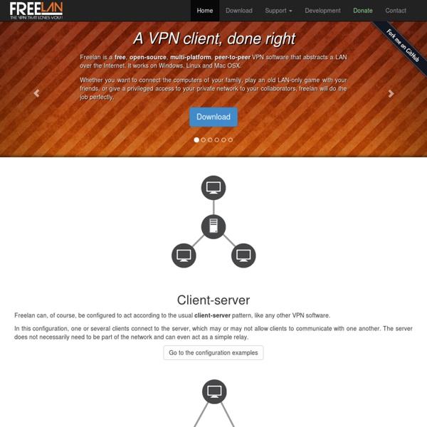 Freelan - an open-source, multi-platform, peer-to-peer VPN software