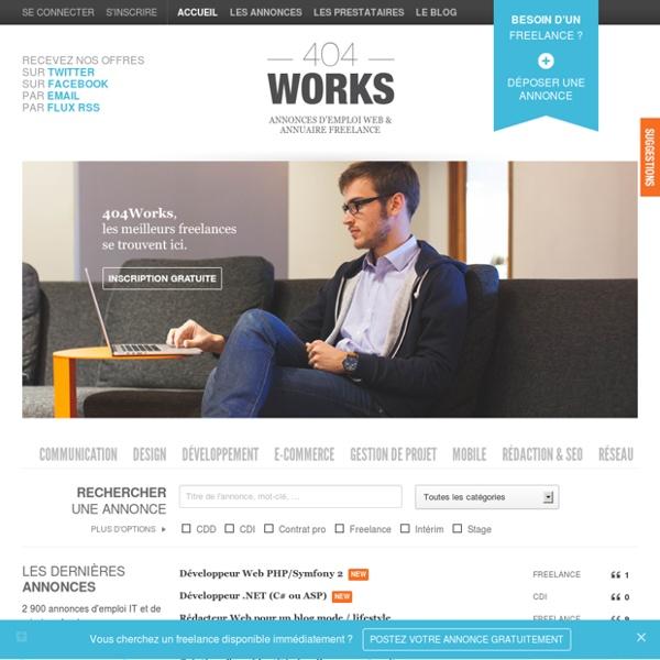 Freelance Web : annonces emploi et annuaire freelance