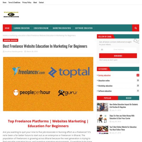 Best Freelance Website Education In Marketing For Beginners