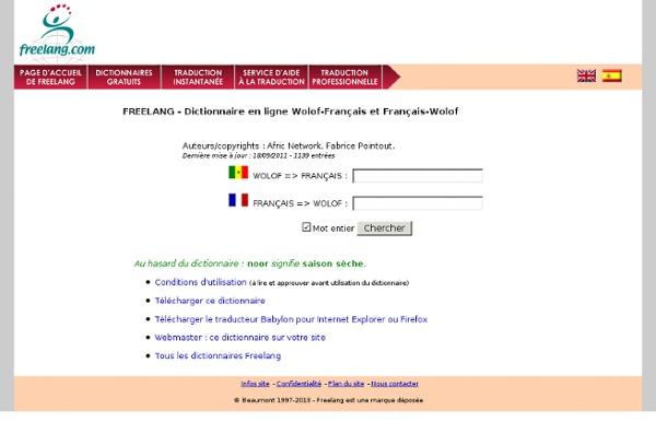 Wolof-Français / Français-Wolof