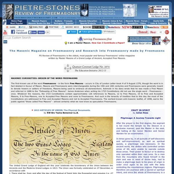 PS Review of Freemasonry