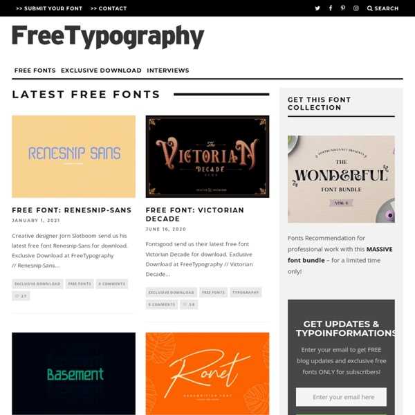 FreeTypography – The best free fonts, typefaces and typography