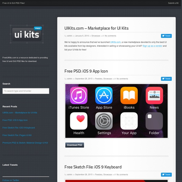 Free UI Kit PSD FilesFreeUIKits.com