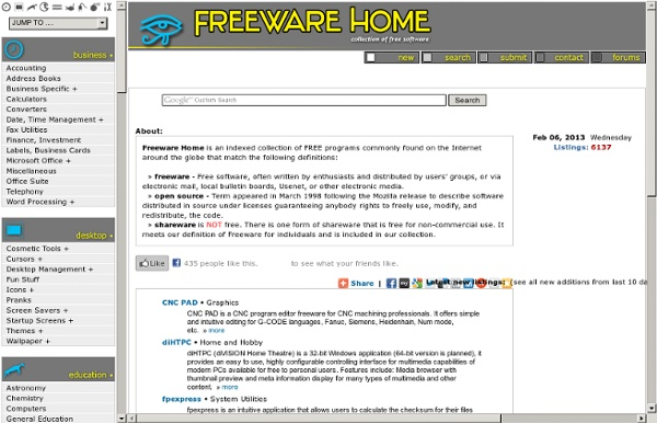 Freeware Home - Free Software Downloads