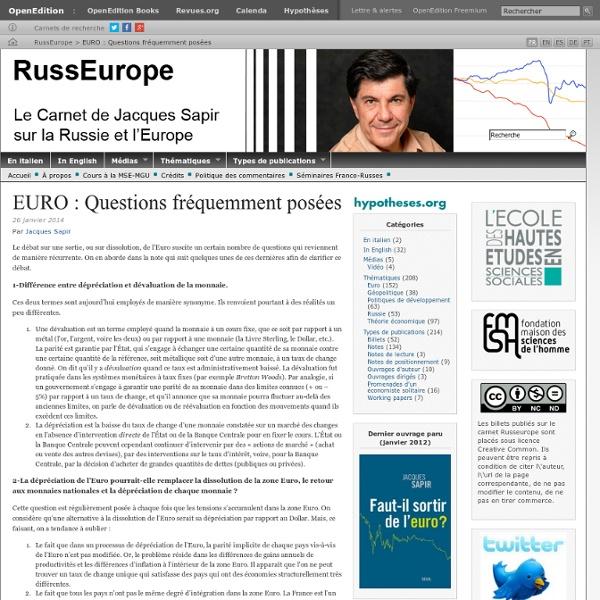 EURO : Questions fréquemment posées