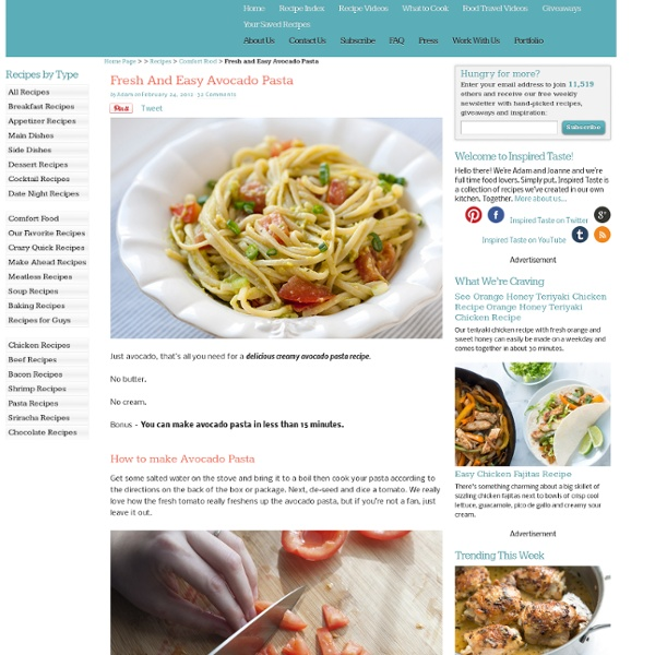 Fresh and Easy Avocado Pasta Recipe