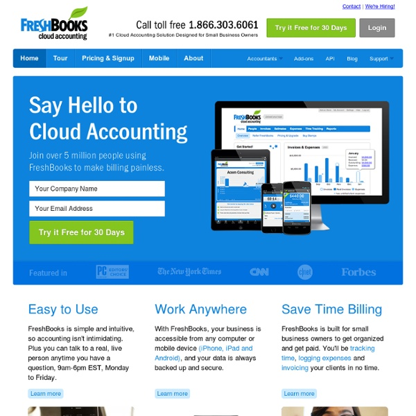 FreshBooks – Online Invoicing, Accounting & Billing Software