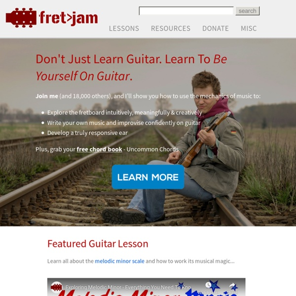 Fretjam Guitar Lessons - Be Yourself On Guitar